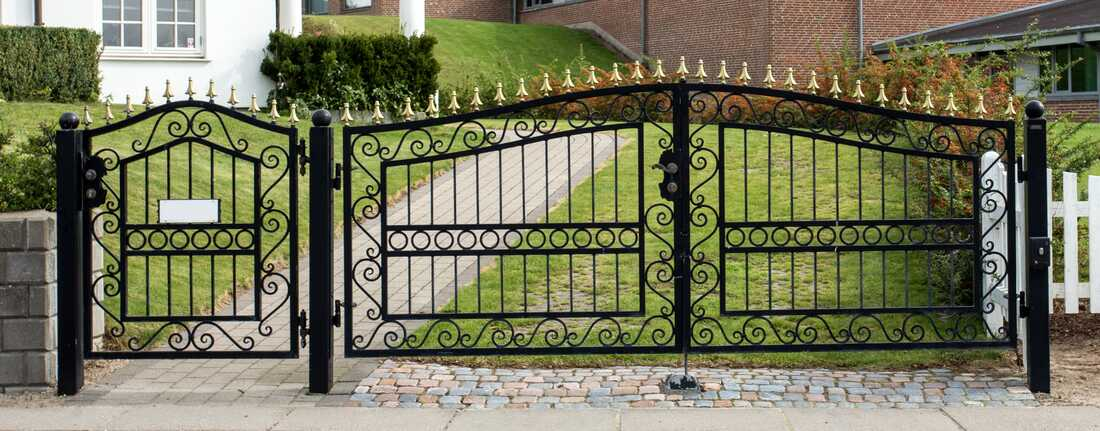 Parramatta wrought iron gate